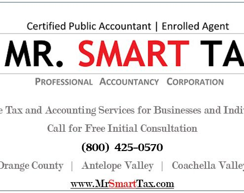 Logo Advertisement - Mr. Smart Tax CPA EA